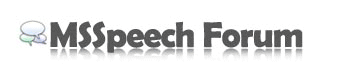 MSSpeech-Forum Homepage